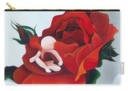 Healing Painting Baby Sitting In A Rose Carry-all Pouch