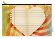 Heart Paper Retro Design Carry-all Pouch