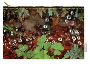 Heart Shaped Clover And  Dew Drops Carry-all Pouch