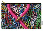 Heart Shaped Pink Pencil Carry-all Pouch