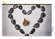 Heart With Rose Carry-all Pouch by Joana Kruse