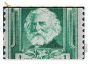 Henry W Longfellow Postage Stamp Carry-all Pouch