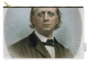 Henry Ward Beecher (1813-1887). American Clergyman. At Age 50: Steel Engraving, 19th Century Carry-all Pouch