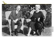 Herbert Hoover Seated With His Wife Carry-all Pouch
