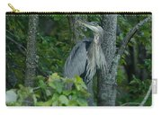 Heron On A Limb Carry-all Pouch