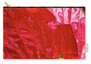 Hibiscus Blossom In Red Carry-all Pouch