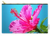 Hibiscus Crystal Luster Carry-all Pouch