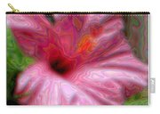 Hibiscus With A Blurred Enamel Effect Carry-all Pouch