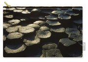 High Angle View Of Basalt Rocks, Giants Carry-all Pouch
