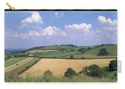 High Angle View Of Patchwork Fields Carry-all Pouch