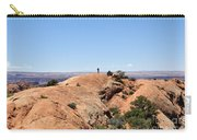 Hiker At Edge Of Upheaval Dome - Canyonlands Carry-all Pouch