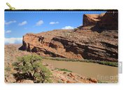 Hiking The Moab Rim Carry-all Pouch