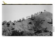 Hilltop In A Row - Black And White Carry-all Pouch