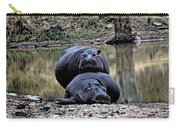 Hippos In Love Carry-all Pouch