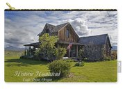Historic 1870 Marvin Wood House With Text Carry-all Pouch