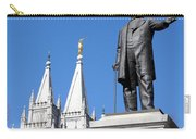 Historic Salt Lake Mormon Lds Temple And Brigham Young Carry-all Pouch