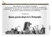 History Of Photography, 1847 Carry-all Pouch