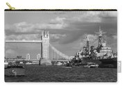 Hms Belfast And Tower Bridge Carry-all Pouch