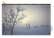 Hoar Frost Covering Trees And Barbed Carry-all Pouch