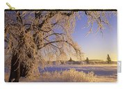 Hoar Frost On Tree, Milton, Prince Carry-all Pouch