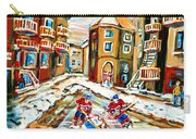 Hockey Art Hockey Game Plateau Montreal Street Scene Carry-all Pouch