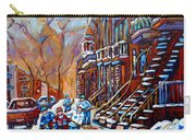 Hockey Art Montreal Streets Carry-all Pouch