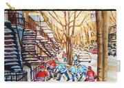 Hockey Game Near Winding Staircases Carry-all Pouch