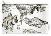 Hokusai: Birds Carry-all Pouch