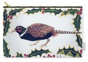 Holiday Pheasant Card Carry-all Pouch