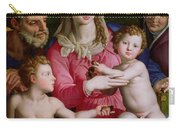 Holy Family With St Anne And The Infant St John The Baptist Carry-all Pouch by Agnolo Bronzino