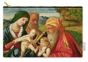 Holy Family With St. Simeon And John The Baptist Carry-all Pouch