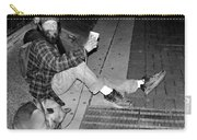 Homeless With Faithful Companion Carry-all Pouch by Kristin Elmquist