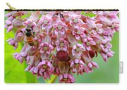 Honeybee On Milkweed Carry-all Pouch