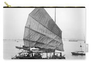 Hong Kong Harbor - Chinese Junk Boat - C 1907 Carry-all Pouch