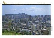 Honolulu And Diamond Head Carry-all Pouch