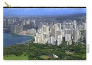 Honolulu Hawaii And Waikiki Beach Carry-all Pouch