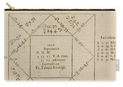 Horoscope Chart For Louis Xiv, 1661 Carry-all Pouch by Science Source