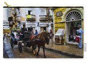 Horse And Buggy In Old Cartagena Colombia Carry-all Pouch by David Smith