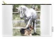 Horse And Dog Play Carry-all Pouch