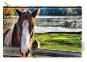 Horse At Lake Leroy Carry-all Pouch