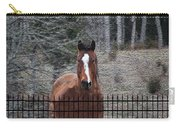Horse Behind The Fence Carry-all Pouch
