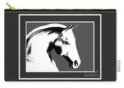 Horse In Black And White Carry-all Pouch