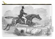 Horse-jumping, 1852 Carry-all Pouch