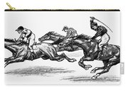 Horse Racing, 1900 Carry-all Pouch by Granger