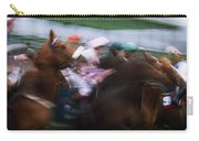 Horse Racing Horses Breaking From The Carry-all Pouch