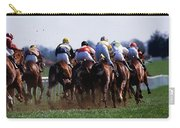 Horse Racing Rear View Of Horses Racing Carry-all Pouch