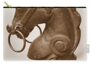 Horse Tether In New Orleans - Sepia Carry-all Pouch