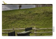 Horse Watching The Carriage Carry-all Pouch by Darcy Michaelchuk