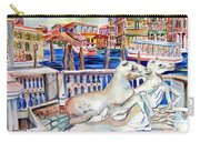 Horses On The Grand Canal Of Venice Carry-all Pouch