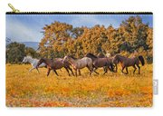 Horses Running Free Carry-all Pouch